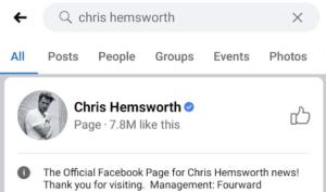 Facebook advanced search