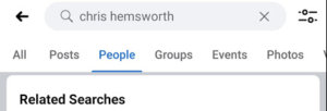 Facebook advanced search with more options